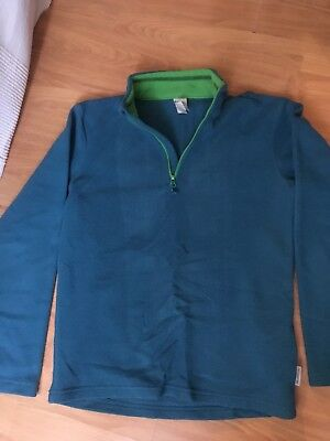 Soft Fleece Boys girls long sleeve Zip Front top Size age 12 Years