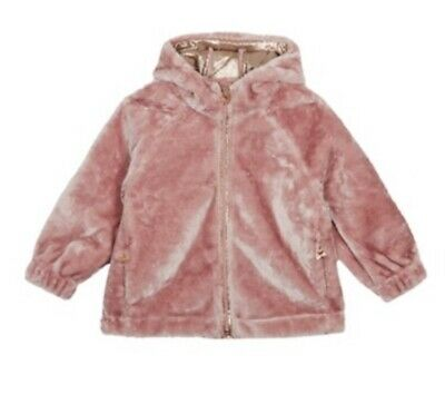 Ted Baker Girls Faux Fur Coat Size 13-14 Years RRP BNWT £60