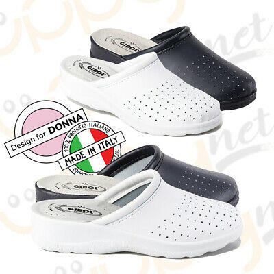 Ciabatte infermiere donna pantofole sanitarie Fly dottore pelle Made in ITALY