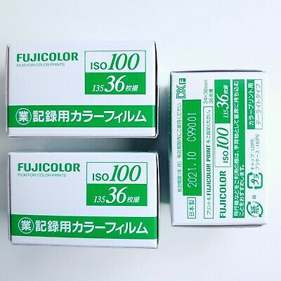 3 Rolls - FUJI Fujifilm FujiColor 100 ISO 35mm 36exp Industrial Color Film -US