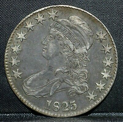 1825-P Capped Bust Half Dollar ✪ Ch-Xf ✪ 50C Silver Choice Extra Fine ◢Trusted◣