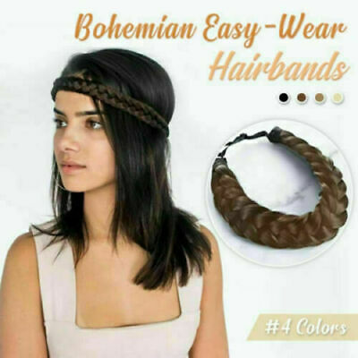Wide Bohemian Wigs Braid Thick Fishtale Headband Fashion Hair Accessories H F2Y4