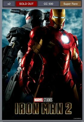 Topps Marvel Collect Card Trader First 10 Years Movie Posters Iron Man 2 500cc