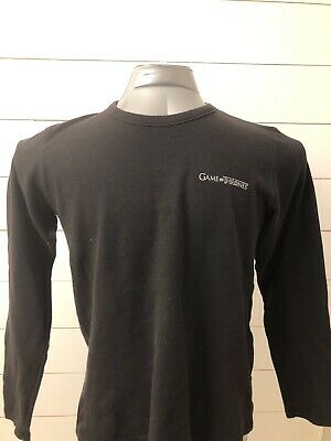 Official HBO Game Of Thrones Logo Thermal Long Sleeve Size Large GoT