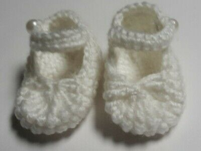 White Mary Jane doll shoes for Baby Born American Girl Our Generation