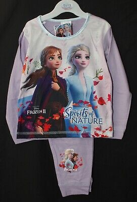 Disney FROZEN 2 Girls Lilac Pyjamas / Anna & Elsa PJs Sizes 18 Months - 5 Years