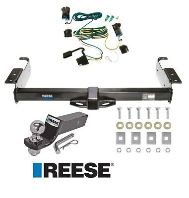 "Reese Trailer Tow Hitch For 03-20 Chevy Express GMC Savana Van Wiring & 2"" Ball"