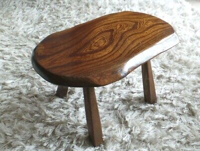 Beautiful Vintage Welsh Oak Stool with stunning characteristics in the wood