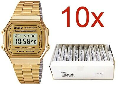 OROLOGIO CASIO VINTAGE Mod. A168WG-9E ** SPECIAL PACK 10 PCS**