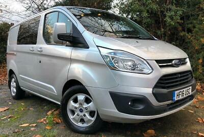 Ford Transit Custom Limited Double Crew Cab Van 6 Seats Silver Beacon