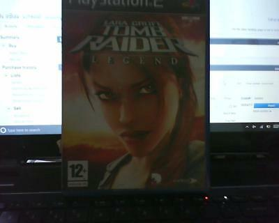 Playstation 2 Version Of Lora Croft Tomb Raider Legend Inlay Or Artwork Only