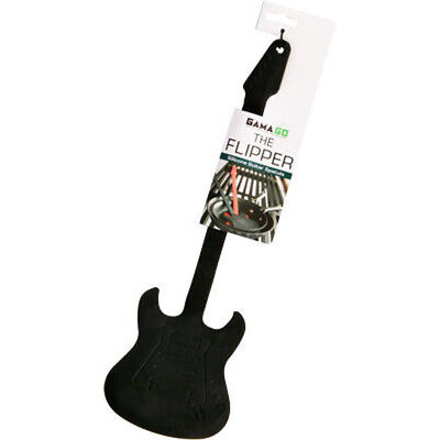 Black Guitar Flipper Spatula Kitchen Cooking Musician Music Dad Mom Husband Gift
