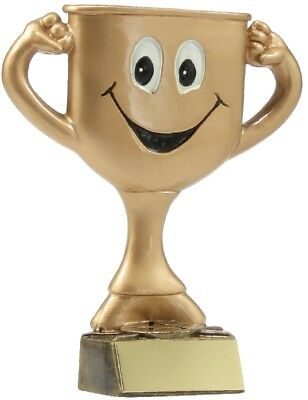 Trophy Cup Man Comic Character 120mm Engraved FREE
