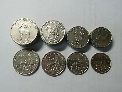 ERITREA 1997 HIGH GRADE AND RARE FULL 6 COINS FAUNA ANIMALS SET 1 TO 100 CENTS