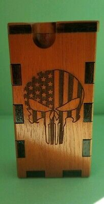 AMERICAN FLAG PUNISHER. dugout  ONEHITTER . ENGRAVED,PIPE, STASH BOX,MEDICINAL