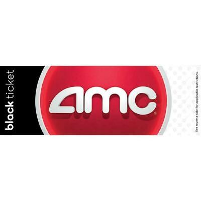 AMC Black Movie Ticket - Never Expires-Fast Delivery w large drink exp 6/20