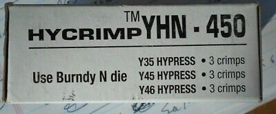NEW Burndy YHN-450 Hycrimp compression tap, See photos for wire sizes etc