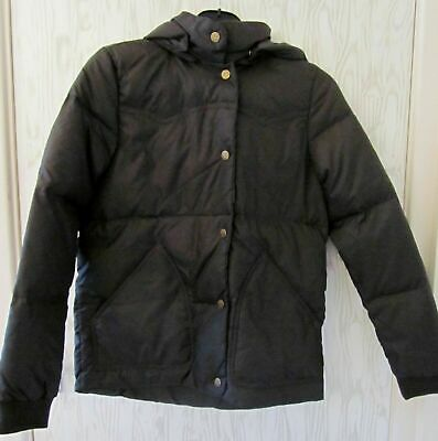 Older Girl Levi / Levis Strauss ~ Puffa Jacket ~Small ~Taupe Dark Brown ~ Hooded