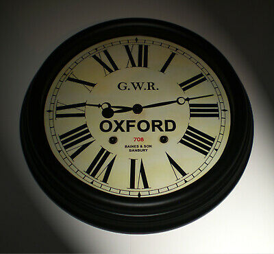 Great Western Railway, GWR Victorian Style Waiting Room Clock, Oxford Station.