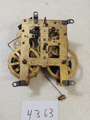 Antique Waterbury Tambour Mantle Clock Movement