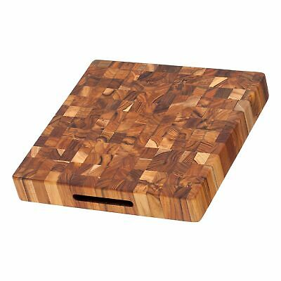Teakhaus Cutting Board - Square Butcher Block With Hand Grips (12 x 12 x 2 in.)