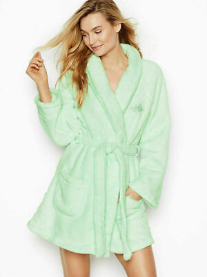 Victoria's Secret the COZY Cozy Short Robe, Mint Green M/L Great Gift, SOFT, NEW