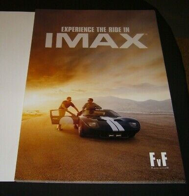 "FORD VS. FERRARI ""13"" x 19"" IMAX ORIGINAL PROMO MOVIE POSTER (FREE SHIPPING)"