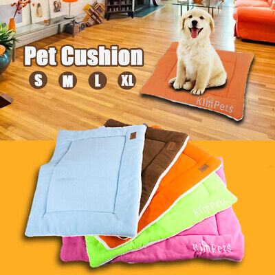 Pet Bed Cushion Mat Pad Dog Cat Kennel Crate Warm Cozy Soft Blanket S M L