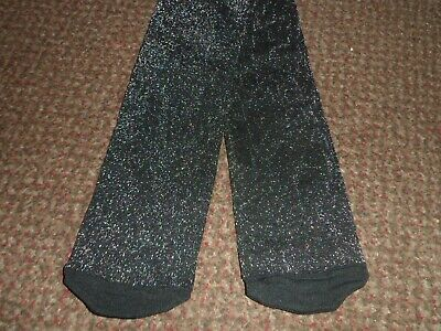 new Girls f+f glittery black party Tights 7-8 YEARS - BNWOT