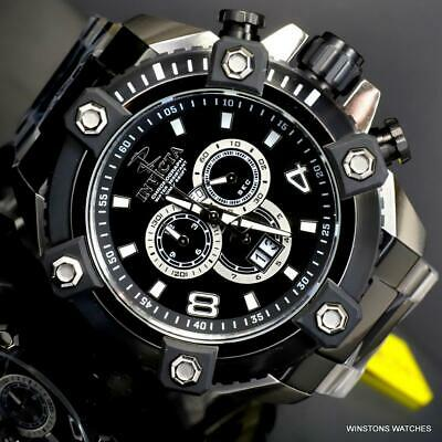 Invicta Reserve Grand Octane Arsenal Steel 63mm Swiss Mvt Black Silver Watch New