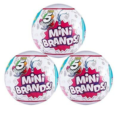 5 Surprise Mini Brands 3 BALLS Authentic Zuru Mystery Ball Collectible Lot Set