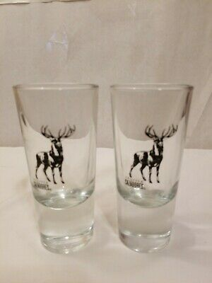 2 Cazadores Tequila Thick Heavy Shot Glass