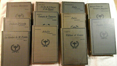 lot of 11 antique french  books from 1895-1914  VINTAGE
