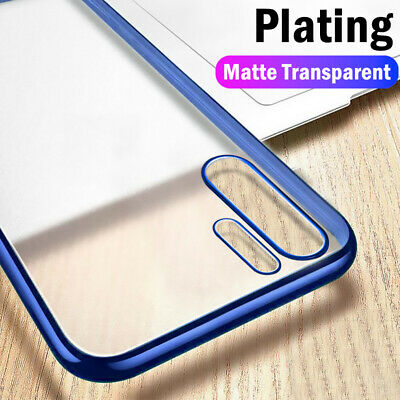 Plating Matte Slim Soft Clear Case Cover For Huawei P30 P20 Lite Mate 30 20 Pro