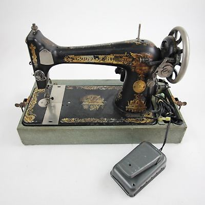 Vintage Singer Sewing Machine 27 Sphinx Treadle Head Gold Ornate Art Deco