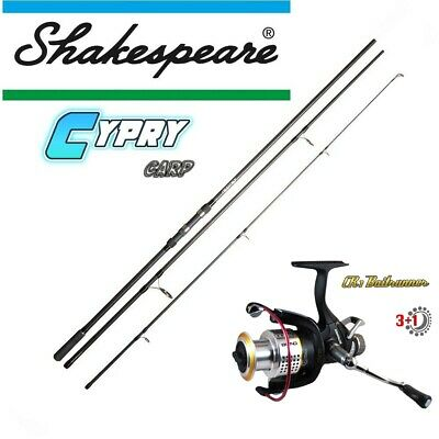 Deluxe CARP SET Baitrunner CR1 + Shakespeare 3teilig 12FT 3LBS