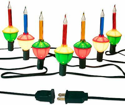 Christmas Bubble Lights, 7 Bulbs Multi-Color Bubble Lights with Green Wire, Old