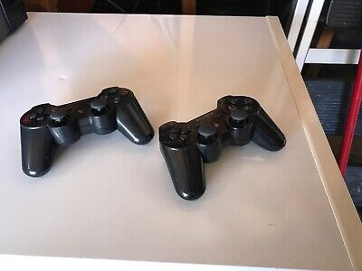 2 Set Official Genuine OEM Sony Playstation 3 PS3 Wireless Sixaxis Controllers