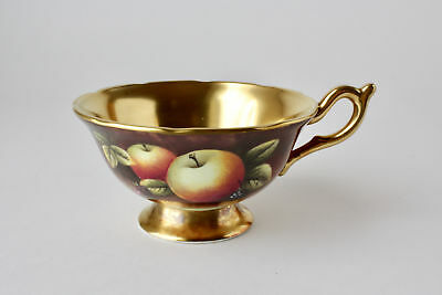 Coalport Hand Painted Fruit by Bruce Higham Cup