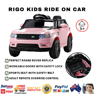 RIGO Kids Ride On Car Toys Motorised Remote Control Battery 12V Range Rover 4WD