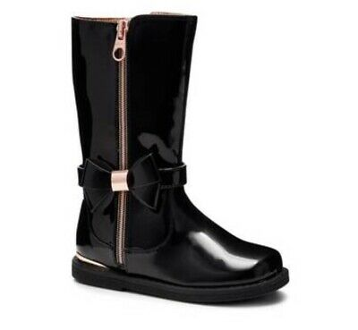 Ted Baker Girls Black Boots BNWT Size 7 £45
