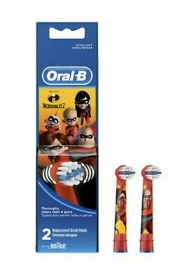 Braun Oral-B 2 Stages Power Kids Tooth Brush Heads İncredibles