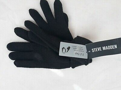 Steve Madden Solid Boyfriend ITouch Gloves (Black) Cold Weather Gloves A-037