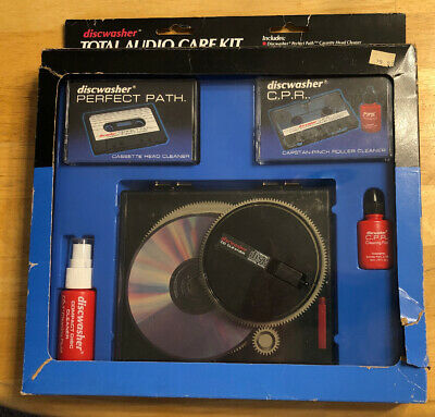 Vintage Discwasher CD Cassette Audio Care Maintenance Promo Kit Home & Car