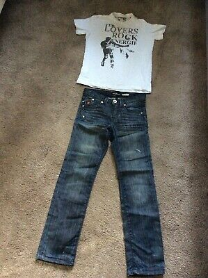 Energie Boys Jeans ans T-shirt, 8 Years, used, Very good condition aa