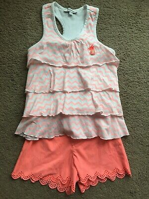 Girls 3 Pommes 5-6 Years Shorts And Top Designer