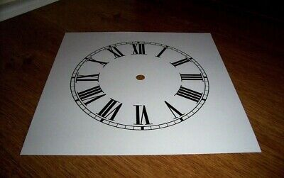 "Ogee Paper (Card) Clock Dial - 7"" M/T - Roman - MATT WHITE - Parts/Spares"