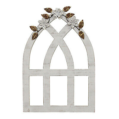Rustic Cathedral Arch Window Wall Art Hanging Faux Window