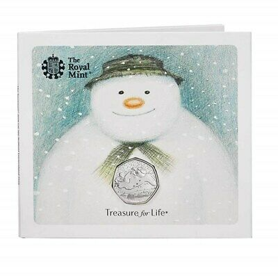 The Snowman & James Christmas 50p Coin 2018 The Royal Mint BU Presentation Pack