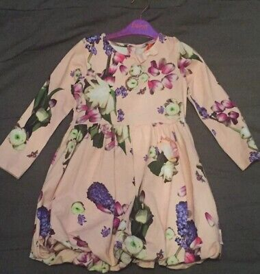 Ted Baker Girls Pink Floral Print Dress  Age 4-5 BNWT